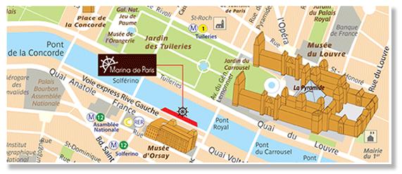 Plan d'accès Marina de Paris
