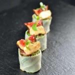 Maki de légumes, thon et figue fraîche