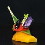 Carotte orange, pois gourmand, poivron rouge