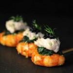 Gambas et légumes acidulés, aïoli Azaï Polito