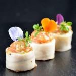 Maki de saumon aux œufs de truite