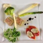 Compressé de foie gras et ses accompagnements