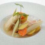 Joue de Lotte au Bouillon Thaï, Légumes racines du jour